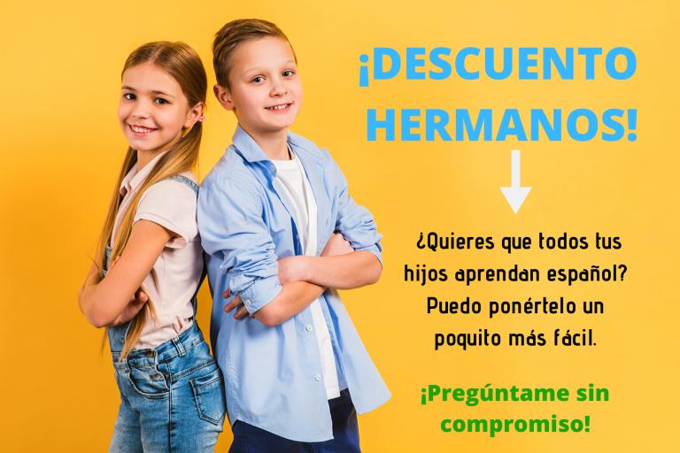 Consigue un descuento para hermanos en tu programa de español