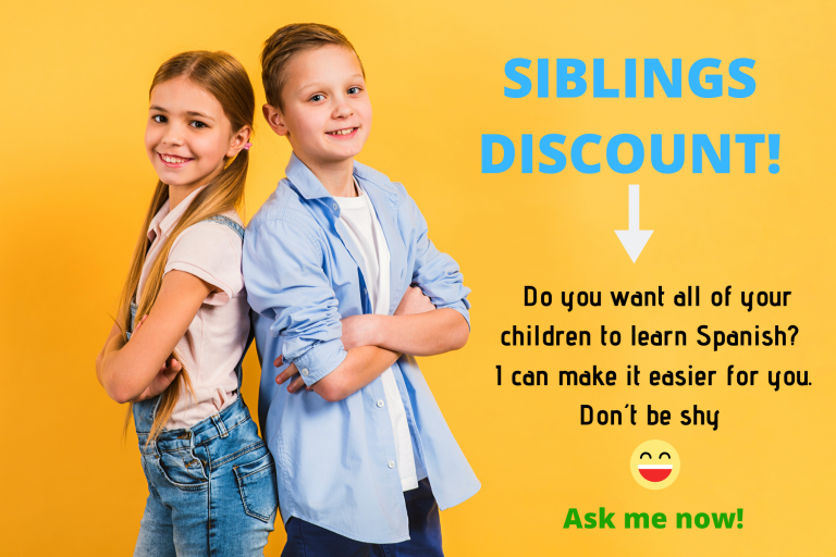 Get a discount for sibligns in your Spanish learning program
